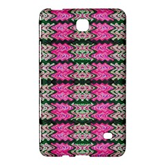 Pattern Tile Pink Green White Samsung Galaxy Tab 4 (8 ) Hardshell Case  by BrightVibesDesign