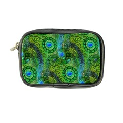 Emerald Boho Abstract Coin Purse by KirstenStar