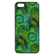 Emerald Boho Abstract Apple Iphone 5 Seamless Case (black) by KirstenStar