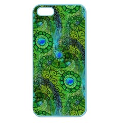 Emerald Boho Abstract Apple Seamless Iphone 5 Case (color) by KirstenStar