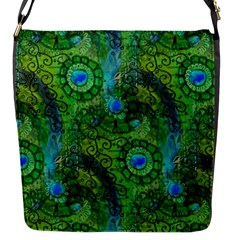 Emerald Boho Abstract Flap Messenger Bag (s) by KirstenStar