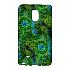 Emerald Boho Abstract Galaxy Note Edge by KirstenStar