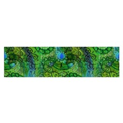 Emerald Boho Abstract Satin Scarf (oblong) by KirstenStar