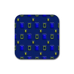 3d Rectangles                                                                      			rubber Square Coaster (4 Pack by LalyLauraFLM