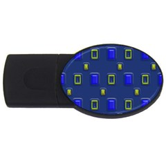3d Rectangles                                                                      usb Flash Drive Oval (4 Gb) by LalyLauraFLM