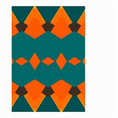 Rhombus And Other Shapes                                                                      Small Garden Flag by LalyLauraFLM