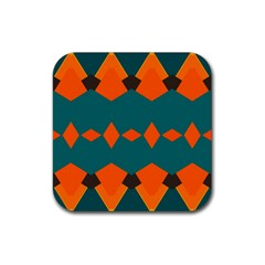 Rhombus And Other Shapes                                                                      			rubber Square Coaster (4 Pack by LalyLauraFLM