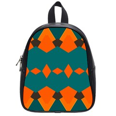 Rhombus And Other Shapes                                                                      			school Bag (small) by LalyLauraFLM