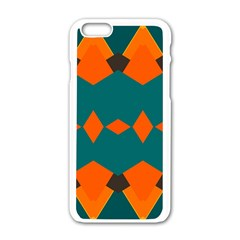 Rhombus And Other Shapes                                                                      			apple Iphone 6/6s White Enamel Case by LalyLauraFLM