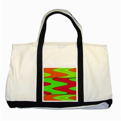 Wavy Design                                                                        			two Tone Tote Bag by LalyLauraFLM