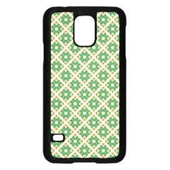 Crisscross Pastel Green Beige Samsung Galaxy S5 Case (black) by BrightVibesDesign