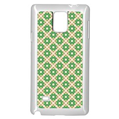 Crisscross Pastel Green Beige Samsung Galaxy Note 4 Case (white) by BrightVibesDesign