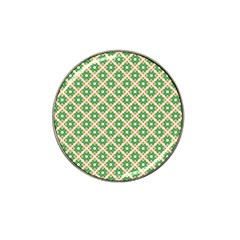 Crisscross Pastel Green Beige Hat Clip Ball Marker (4 Pack) by BrightVibesDesign