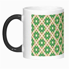 Crisscross Pastel Green Beige Morph Mugs by BrightVibesDesign