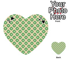 Crisscross Pastel Green Beige Playing Cards 54 (heart)  by BrightVibesDesign