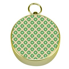 Crisscross Pastel Green Beige Gold Compasses by BrightVibesDesign