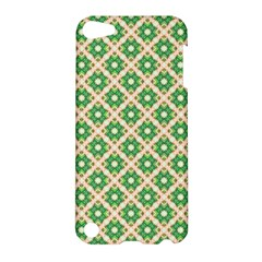 Crisscross Pastel Green Beige Apple Ipod Touch 5 Hardshell Case by BrightVibesDesign