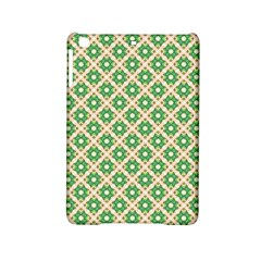 Crisscross Pastel Green Beige Ipad Mini 2 Hardshell Cases by BrightVibesDesign