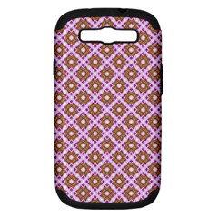 Crisscross Pastel Pink Yellow Samsung Galaxy S Iii Hardshell Case (pc+silicone) by BrightVibesDesign