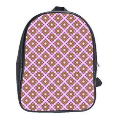 Crisscross Pastel Pink Yellow School Bags (xl)  by BrightVibesDesign