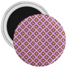 Crisscross Pastel Pink Yellow 3  Magnets by BrightVibesDesign