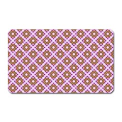 Crisscross Pastel Pink Yellow Magnet (Rectangular) by BrightVibesDesign