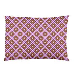Crisscross Pastel Pink Yellow Pillow Case (two Sides) by BrightVibesDesign