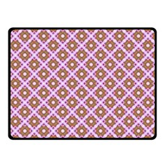 Crisscross Pastel Pink Yellow Double Sided Fleece Blanket (small)  by BrightVibesDesign
