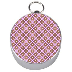 Crisscross Pastel Pink Yellow Silver Compasses by BrightVibesDesign