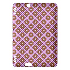 Crisscross Pastel Pink Yellow Kindle Fire HDX Hardshell Case by BrightVibesDesign