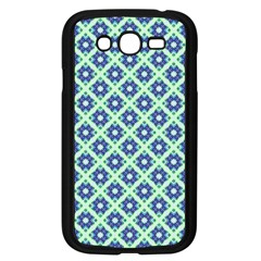 Crisscross Pastel Turquoise Blue Samsung Galaxy Grand Duos I9082 Case (black) by BrightVibesDesign