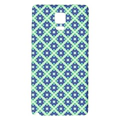 Crisscross Pastel Turquoise Blue Galaxy Note 4 Back Case by BrightVibesDesign