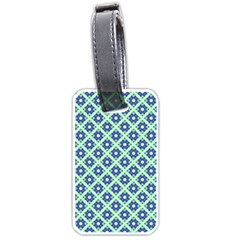 Crisscross Pastel Turquoise Blue Luggage Tags (two Sides) by BrightVibesDesign