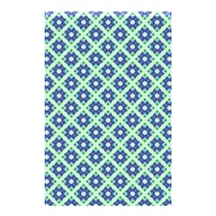 Crisscross Pastel Turquoise Blue Shower Curtain 48  X 72  (small)  by BrightVibesDesign