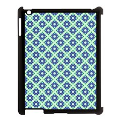 Crisscross Pastel Turquoise Blue Apple Ipad 3/4 Case (black) by BrightVibesDesign
