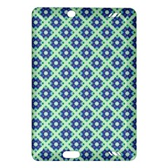 Crisscross Pastel Turquoise Blue Amazon Kindle Fire Hd (2013) Hardshell Case by BrightVibesDesign