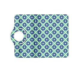 Crisscross Pastel Turquoise Blue Kindle Fire Hd (2013) Flip 360 Case by BrightVibesDesign