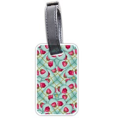 Love Motif Pattern Print Luggage Tags (two Sides) by dflcprints