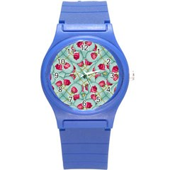 Love Motif Pattern Print Round Plastic Sport Watch (s) by dflcprints