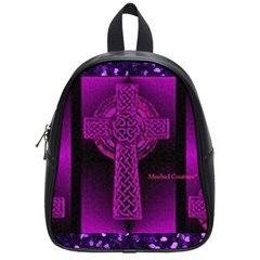 Purple Celtic Cross School Bags (small)  by morbidcouture