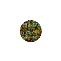Multicolored Digital Grunge Print 1  Mini Magnets by dflcprints
