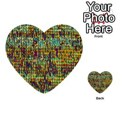 Multicolored Digital Grunge Print Multi Purpose Cards (heart)  by dflcprints