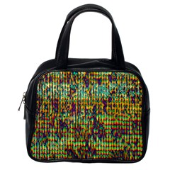 Multicolored Digital Grunge Print Classic Handbags (one Side) by dflcprints