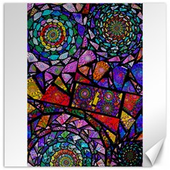 Fractal Stained Glass Canvas 20  X 20   by WolfepawFractals