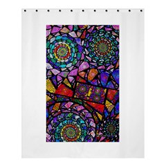 Fractal Stained Glass Shower Curtain 60  X 72  (medium)  by WolfepawFractals