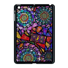 Fractal Stained Glass Apple Ipad Mini Case (black) by WolfepawFractals