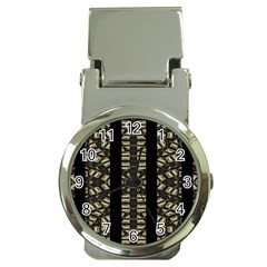 Vertical Stripes Tribal Print Money Clip Watches by dflcprints