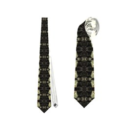 Vertical Stripes Tribal Print Neckties (one Side)  by dflcprints