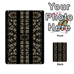 Vertical Stripes Tribal Print Multi Purpose Cards (rectangle)  by dflcprints