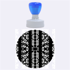 Vertical Stripes Tribal Print Rubber Round Stamps (large)